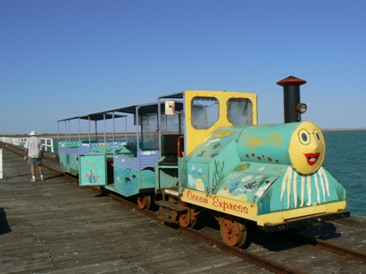 We took the Coffee Pot train to the end of the Mile Long jetty