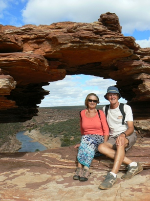 John and Judy at Nature's Window in Kalbarri NP